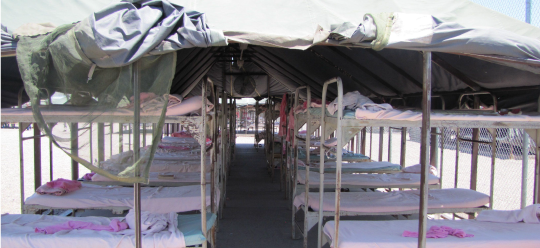 Tent City coming back? 32 women to one bathroom?
